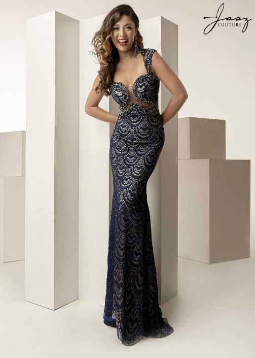 844702dfbd Jasz Couture 6260 Sweetheart Beaded Gown  French Novelty