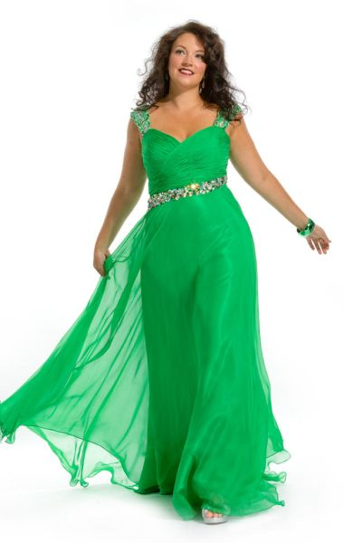 Party Time 6271 Plus Size Evening Dress French Novelty