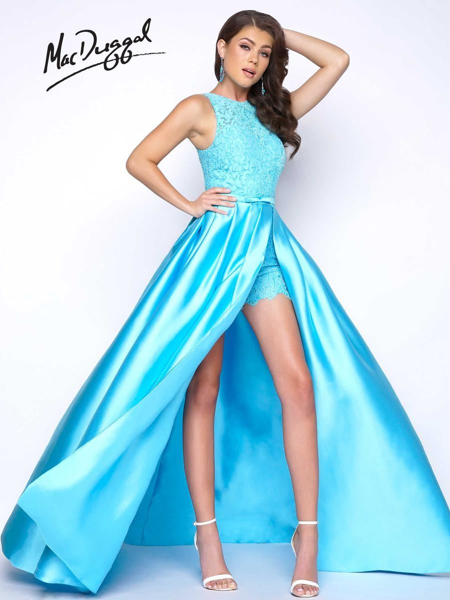 Mac Duggal Prom 62715m Lace Romper With Overskirt French