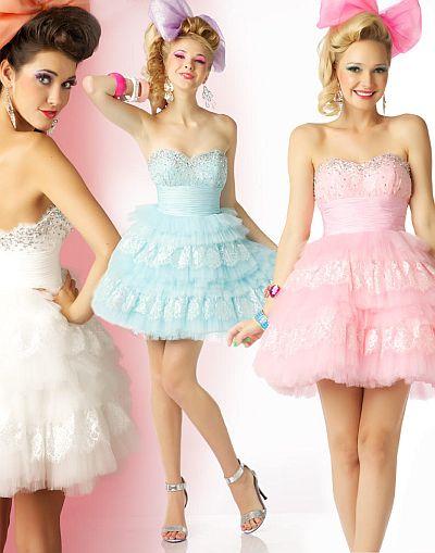 BabyDoll by MacDuggal Flirty Lace Tulle Short Prom Dress 6278B ...