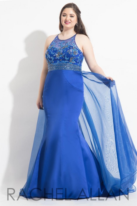 Rachel Allan Curves 6324 Plus Size Flattering Prom Dress: French Novelty