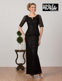 c0edaa91c47 Ursula 63276 Mothers Plus Size Lace Elbow Sleeve Gown