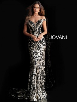 e43519ba4dd8 Jovani 63349 Off Shoulder Embellished Prom Gown