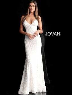 6f476ede52c Jovani 63456 Backless V Neck Prom Gown