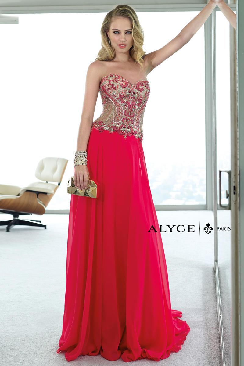 Maternity Wedding Dresses Atlanta Ga : Alyce paris sheer corset formal dress french novelty