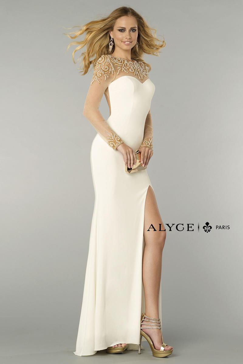 Alyce Paris 6375 Slim Fit Formal Dress French Novelty