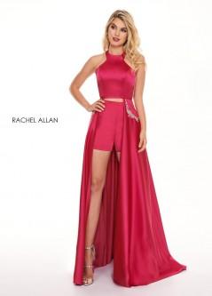 92500473c515 Rachel Allan 6405 Halter 2 Piece Prom Dress