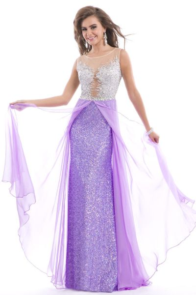 Party Time 6420 Sleeveless Jersey Formal Dress French Novelty