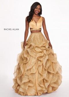 5e220f13d0c Rachel Allan 6427 Glitter 2 Piece Prom Dress