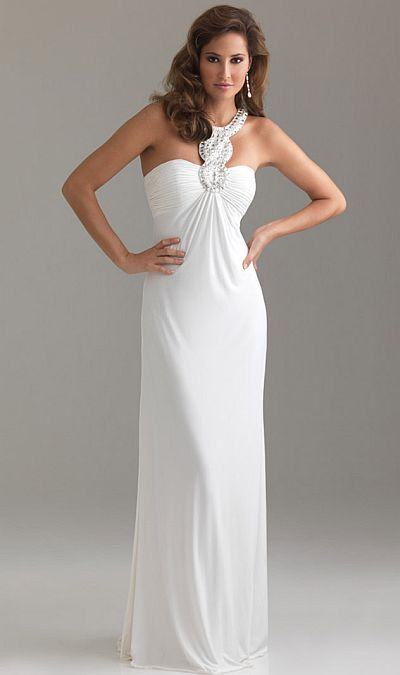 Night Moves Jewel Neck Fitted Jersey Prom Dress 6433