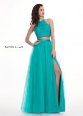 1c8b05959c Size 0 Jade Rachel Allan 6437 Two Piece Prom Dress