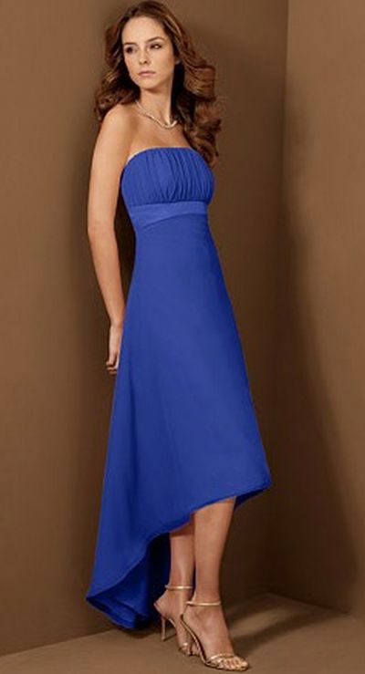 Alfred Angelo High Low Bridesmaid Dress 6455: French Novelty