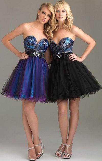 Night Moves Prom Dress Short