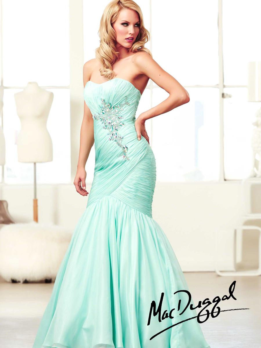 Mac Duggal Ball Gowns 64668H Ruched Mermaid Dress: French Novelty
