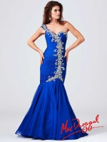 Mac Duggal 64682M One Shoulder Ruched Gown image