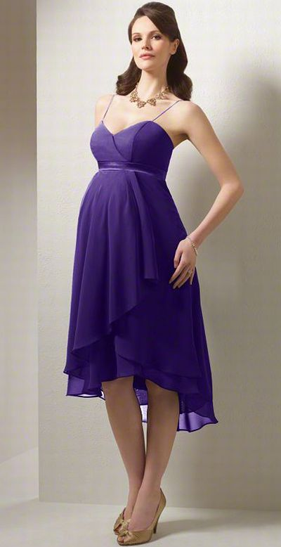 Alfred Angelo High Low Maternity Bridesmaid Dress 6471MA: French ...