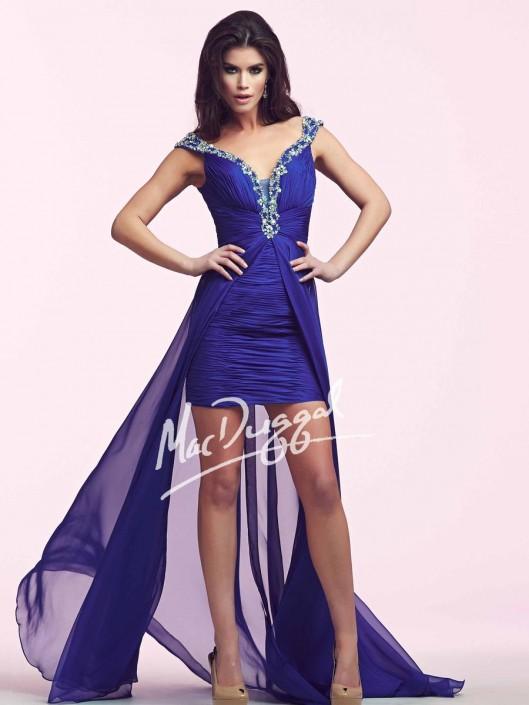 b695e085ac7 Mac Duggal 64722N High Low Party Dress: French Novelty