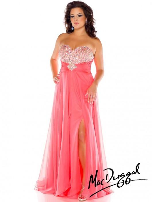 Mac Duggal Fabulouss 64757F Beaded Plus Size Gown