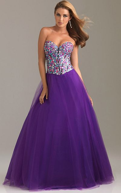 Night Moves Colorful Crystal Prom Dress with Lace-Up Back 6497 ...