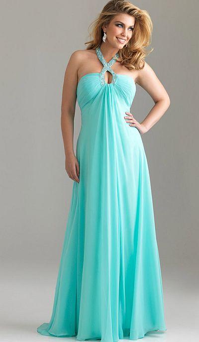 Night moves plus sized chiffon prom dress with flowy skirt for Plus size flowy wedding dresses