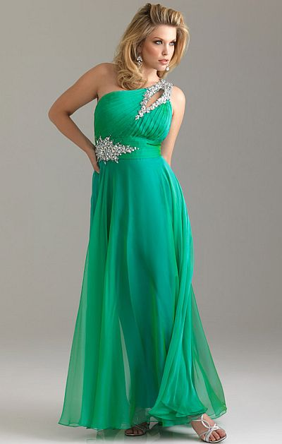 3f11722bf9a Night Moves Plus Sized One Shoulder Chiffon Prom Dress 6526W  French Novelty
