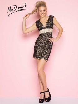 cea43d03864 Flash by Mac Duggal 65295L Short Lace Prom Dress