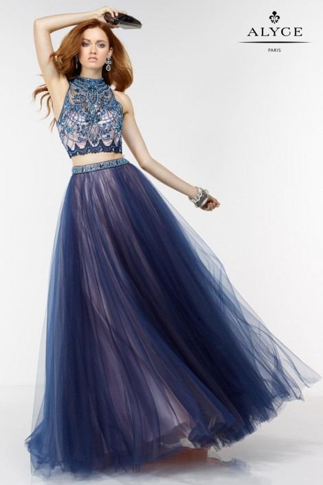 Alyce Paris 6530 Two Piece Tulle Ball Gown: French Novelty
