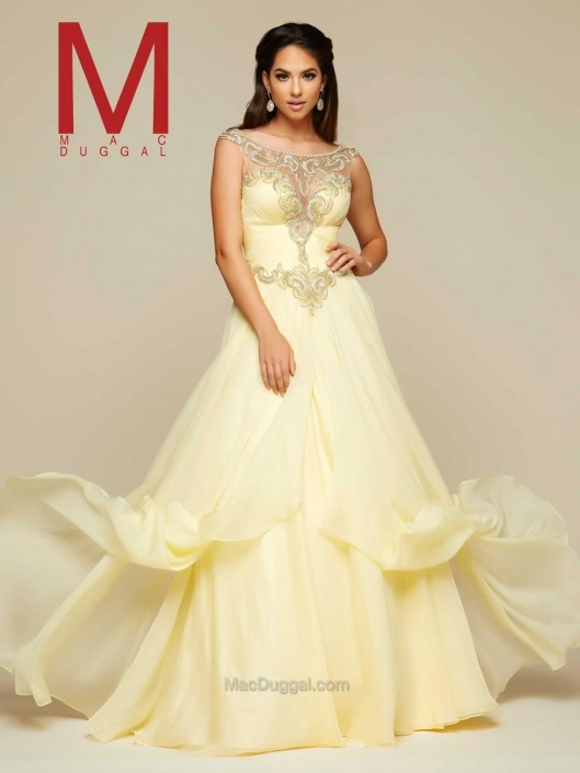 Mac Duggal 65358H Flowing Layered Ball Gown: French Novelty