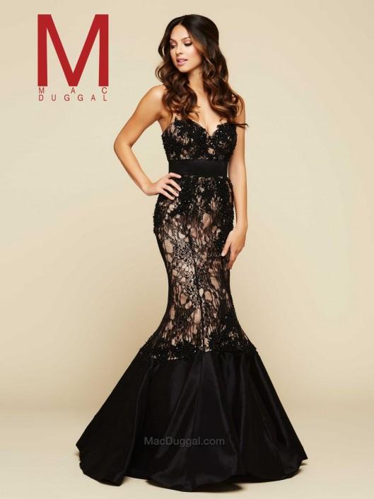 Mac Duggal 65397H Mermaid Ball Gown: French Novelty