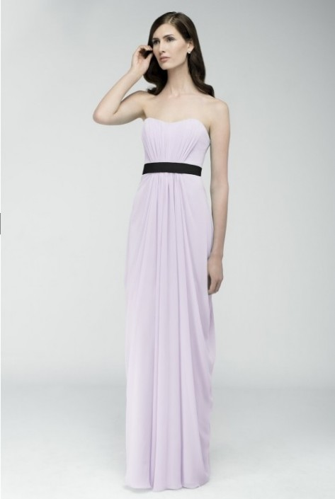 Watters 6543 Crinkle Chiffon Bridesmaid Gown