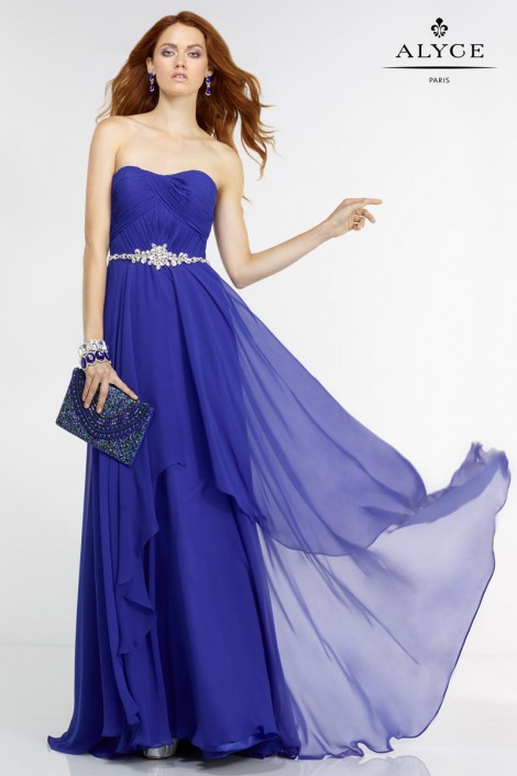 Alyce Paris 6545 Simple Yet Elegant Gown: French Novelty