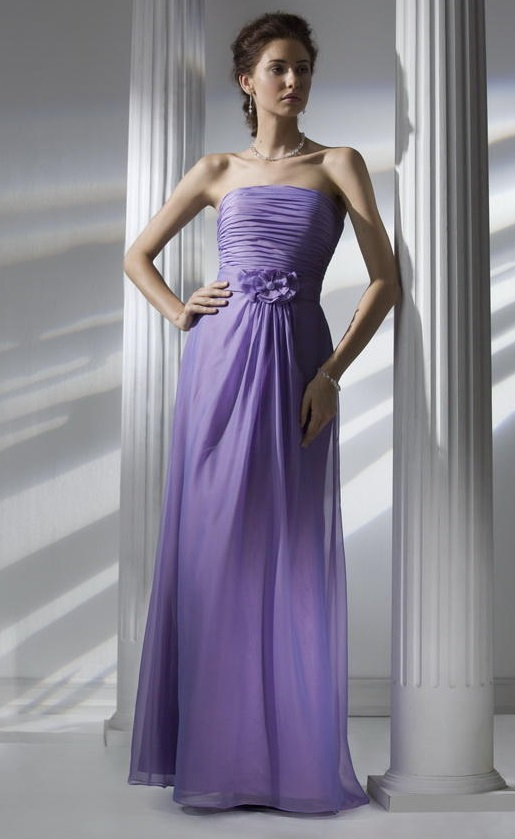 Liz Fields 655 Long Iridescent Chiffon Bridesmaid Dress French Novelty