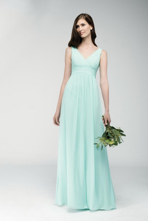 Watters 6552 V Neck Bridesmaid Gown: French Novelty