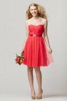 Size 14 Watermelon Wtoo 659 Short Bridesmaid Dress image