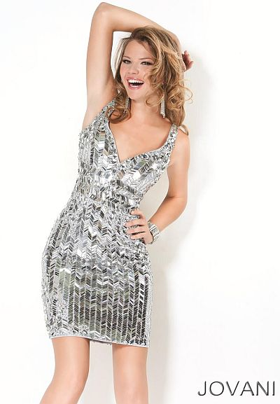 Short Silver Formal Dress