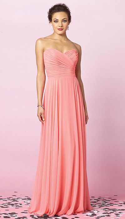 After Six Lux Chiffon Long Bridesmaid Dress 6639 By Dessy