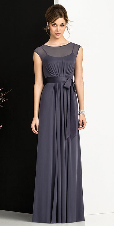 After Six 6676 Cap Sleeve Bridesmaid Gown: French Novelty