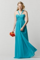 382d87469d6 Size 12 Mermaid Wtoo 668 Crystal Chiffon Halter Bridesmaid Gown