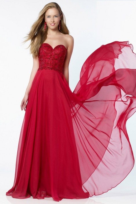 057e5314df37 Alyce Paris 6684 Sweetheart Chiffon Prom Dress: French Novelty
