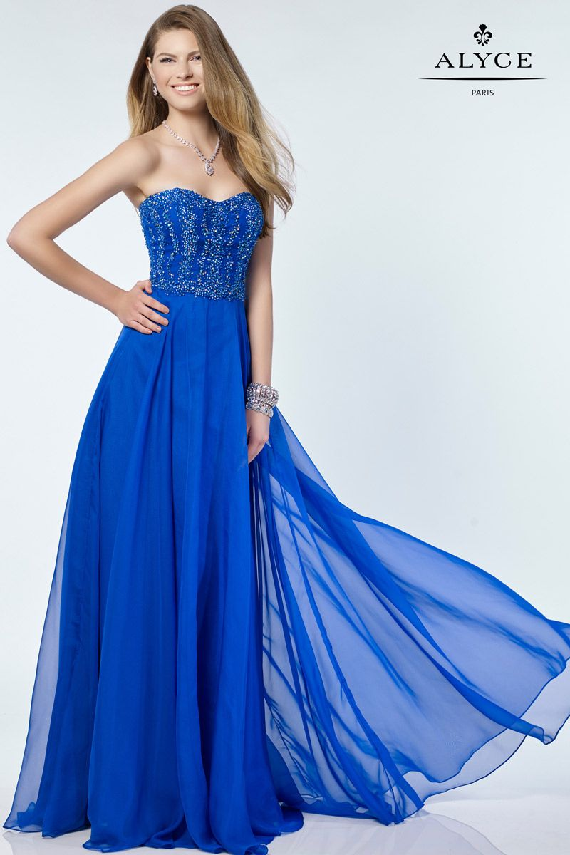 Alyce Paris 6685 Silky Chiffon Prom Gown French Novelty