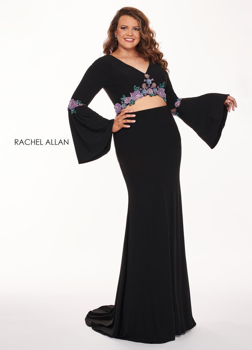 Rachel Allan Curves 6689 Bell Sleeve 2 Piece Plus Size Gown