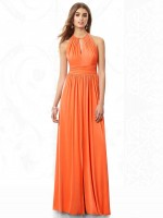After Six 6696 Shirred Halter Bridesmaid Dress image