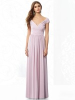After Six 6697 Cap Sleeve Jersey Bridesmaid Gown image