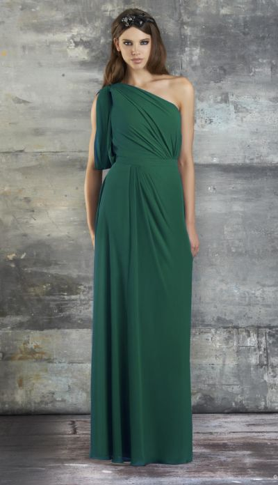 Grecian Bridesmaids Dresses with Sleeves