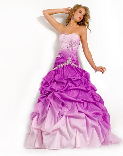 1ead8cc21ad Party Time Ombre Prom Dress With Pickup Skirt 6706 French Novelty
