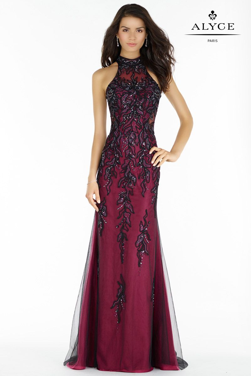 Alyce Paris 6721 Lace Ombre Tulle Gown French Novelty