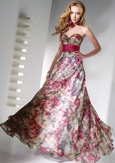 Alyce Paris Rose Print Prom Ball Gown 6724 by Alyce Designs ...
