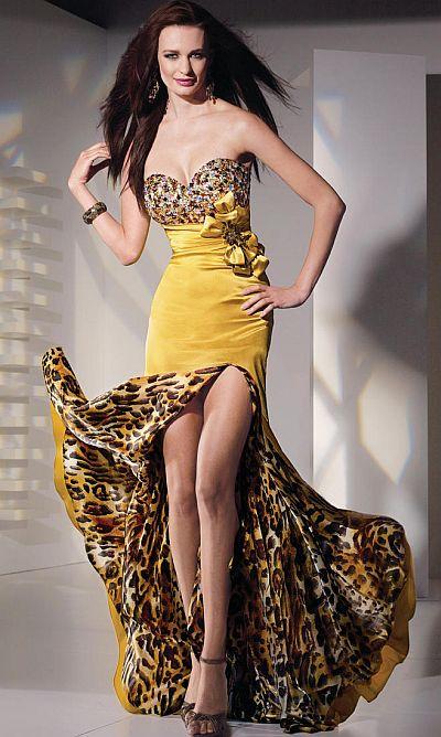 Alyce Paris Wild Leopard Print Prom Dress 6743 By Alyce