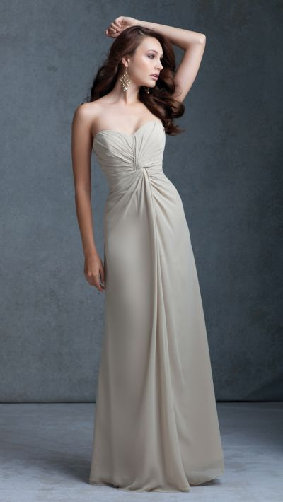 Mori Lee 675 Chiffon Bridesmaid Dress With Gathered Bodice