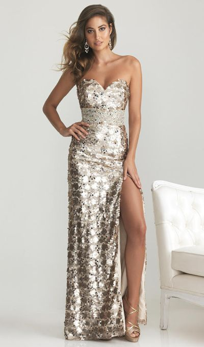 9a1d939b80b Night Moves 6755 Sequin Formal Dress  French Novelty